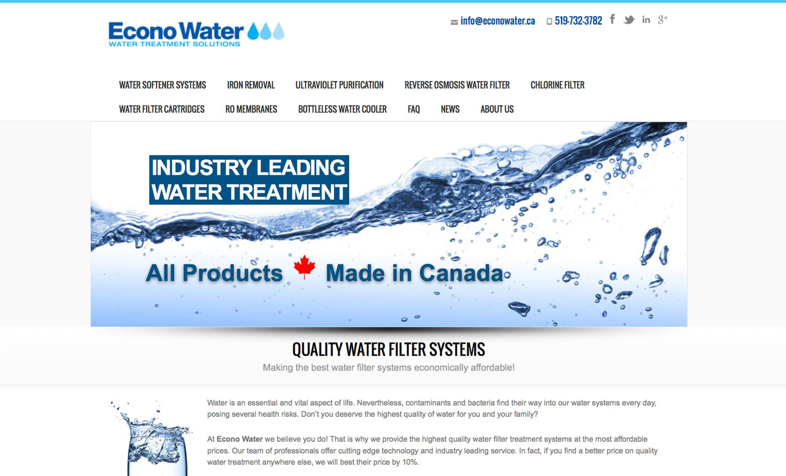 Econo Water – Web Design