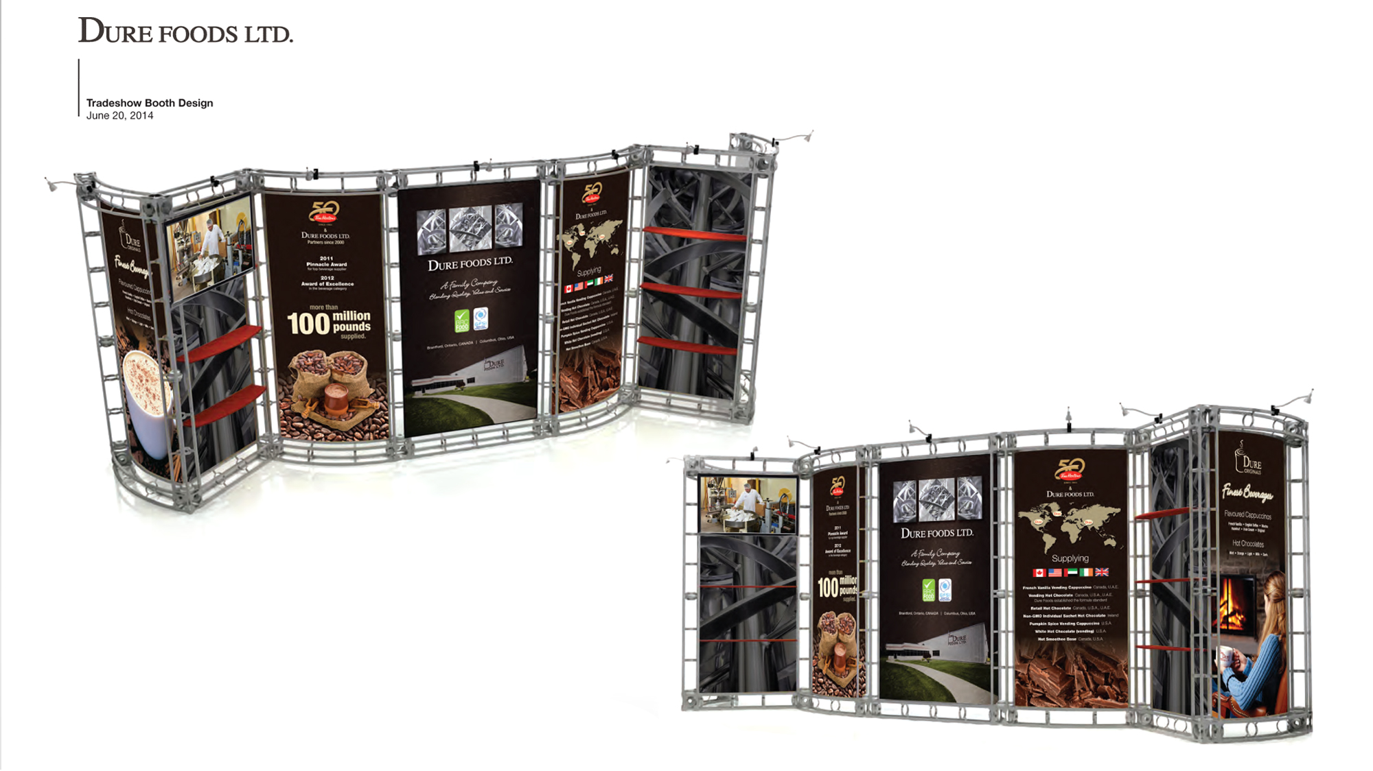 Custom Home Design Questionnaire Dure Foods Trade Show Booth Ball Media