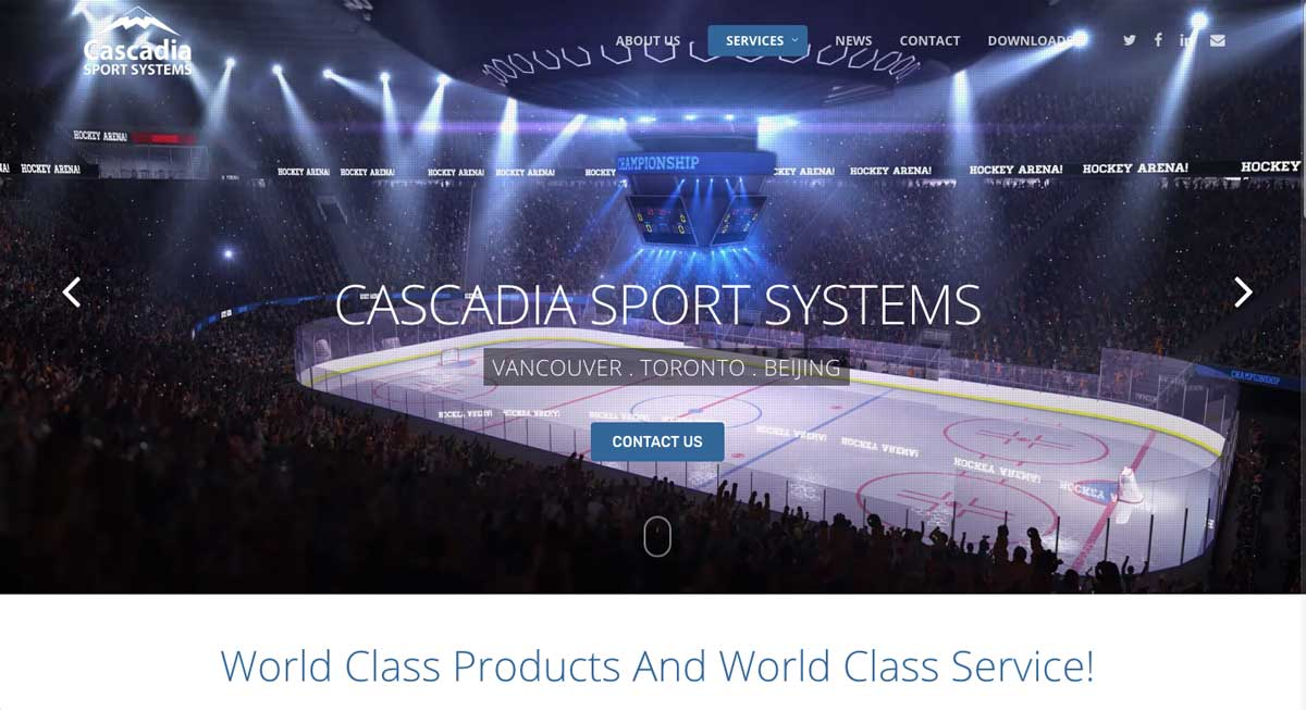 Cascadia Sports Systems website